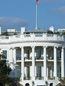 Close-Up of the South Portico of the White House by Brian Gordon Green