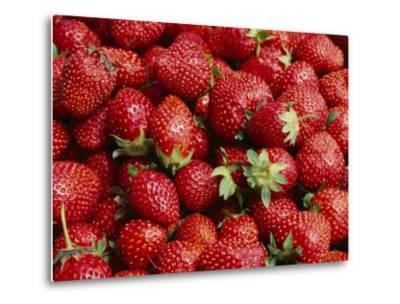 Close View of Freshly Picked Strawberries