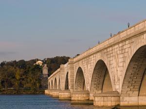 Memorial Bridge Facing Robert E. Lee's House and Arlington Cemetery by Brian Gordon Green