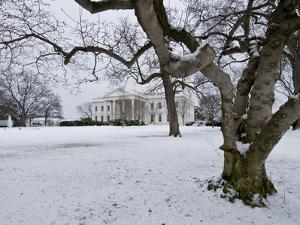Snow on the White House Lawn by Brian Gordon Green