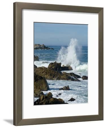 Surf Pounding the Rocks Along the Monterey Bay Coast