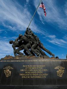 The Iwo Jima Memorial, at Arlington, Virginia by Brian Gordon Green