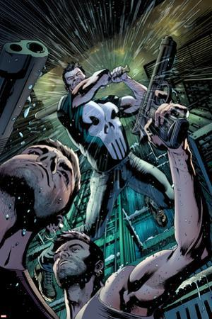 The Punisher No.4 Cover: Punisher Fighting