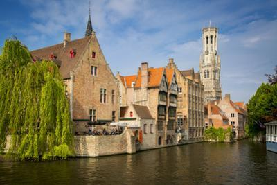 Belfry of Bruges Towers over the Buildings, Bruges, Belgium by Brian Jannsen