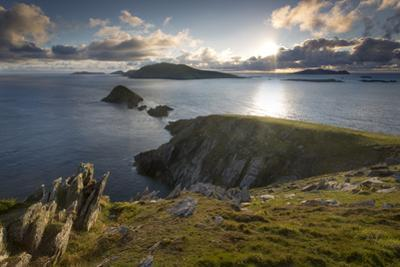 Blasket Islands at Sunset from Dunmore Head, Dingle Peninsula, County Kerry, Republic of Ireland by Brian Jannsen