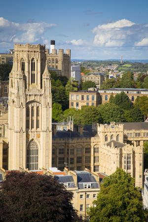 Bristol and the Bristol University Tower from Cabot Tower, England by Brian Jannsen