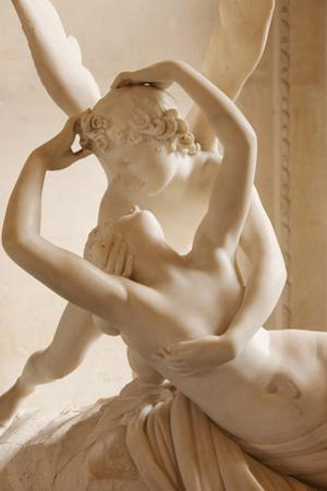 Canova's Statue 'Psyche Revived by Cupid's Kiss' Musee Du Louvre, Paris, France by Brian Jannsen