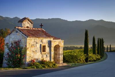 Chapel at Castello di Amorosa vineyards, Napa Valley, California, USA by Brian Jannsen
