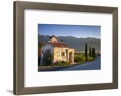 Chapel at Castello di Amorosa vineyards, Napa Valley, California, USA