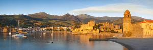 Dawn over Town of Collioure, Pyrenees-Orientales, Languedoc-Roussillon, France by Brian Jannsen