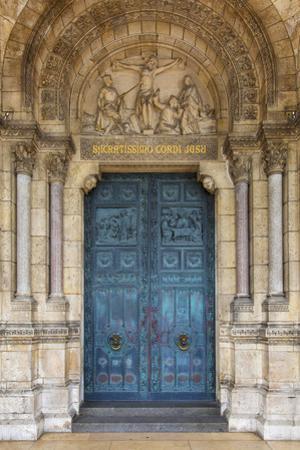 Doors to Basilique Du Sacre Coeur, Montmartre, Paris, France by Brian Jannsen