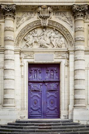 Doors to Saint Etienne Du-Mont Church, Latin Quarter, Paris, France by Brian Jannsen
