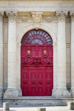 Doors to Saint Paul-Saint Louis Church in the Marais, Paris, France by Brian Jannsen