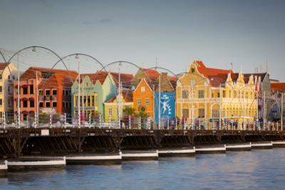 Dutch Architecture Lines the Wharf at Willemstad, Curacao, West Indies by Brian Jannsen