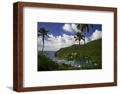 Elevated View of Marigot Bay, St. Lucia, West Indies