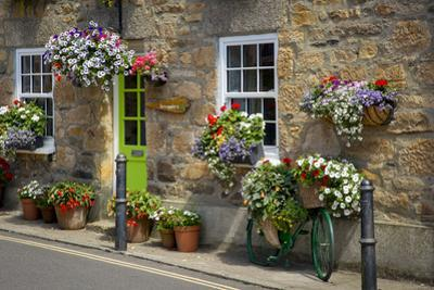 Entrance to Smugglers Bed and Breakfast in Marazion, Cornwall, England by Brian Jannsen