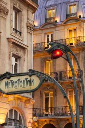 Evening at the Metro Stop Saint Michel in the Latin Quarter, Paris, France by Brian Jannsen