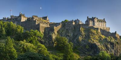 Evening Below Edinburgh Castle, Edinburgh, Lothian, Scotland by Brian Jannsen