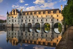 Evening Sunlight, Chateau Chenonceau, Castle, River Cher, Indre-Et-Loire, France by Brian Jannsen
