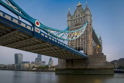 Financial District under the Span of the Tower Bridge, London, England by Brian Jannsen