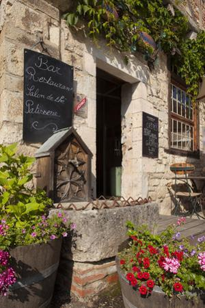 Front Entry to Cafe in Saint Cirq Lapopie, Midi-Pyranees, France