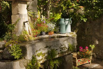 Garden Tub and Wash Basin at Chateau Roussan, France by Brian Jannsen