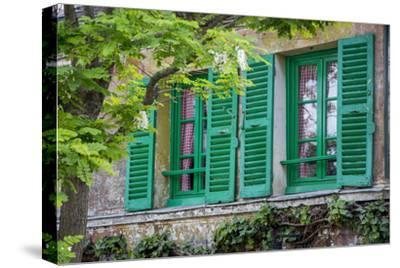 Green Shuttered Window on Lapin Agile, Montmartre, Paris, France by Brian Jannsen