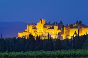 La Cite Carcassonne, Fortified Medieval Town, Languedoc-Roussillon, France by Brian Jannsen