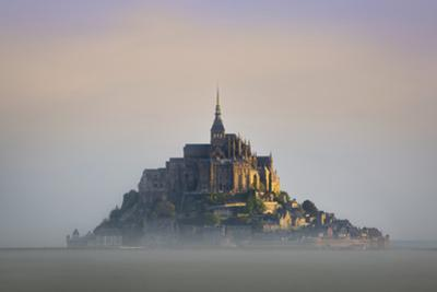 Misty Dawn at Le Mont Saint Michel, Normandy, France by Brian Jannsen