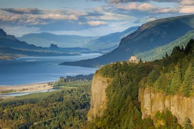 Overlooking the Vista House and the Columbia River Gorge, Oregon, USA by Brian Jannsen