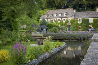 River Coln and Swan Hotel, Cotswolds, Bibury, Gloucestershire, England by Brian Jannsen