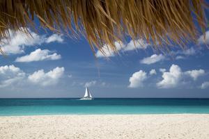 Sailboat Off Eagle Beach, Aruba, West Indies by Brian Jannsen