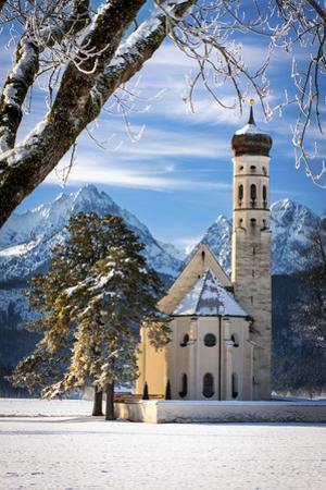 Saint Coloman Church near Fussen, Bavaria, Germany by Brian Jannsen