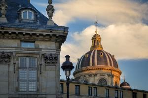 Setting Sunlight on the Dome of Academie Francaise, Paris, France by Brian Jannsen