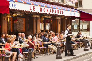 Sidewalk Cafe, Saint-Germain-Des-Pres, Paris, France by Brian Jannsen