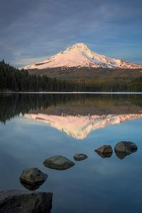 Sunset on Mount Hood from Trillium Lake, Cascade Mountains, Oregon by Brian Jannsen