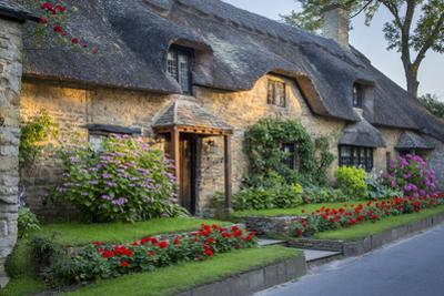 Thatched Cottage in Broad Campden, Cotswolds, Gloucestershire, England by Brian Jannsen