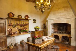 The Kitchen at Chateau Villandry Near Tours, France by Brian Jannsen