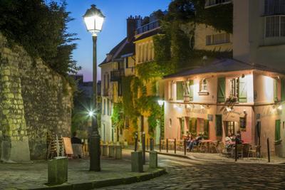 Twilight at Maison Rose, Montmartre, Paris, France by Brian Jannsen