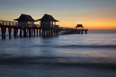 Twilight at the Naples Pier, Naples, Florida, Usa by Brian Jannsen