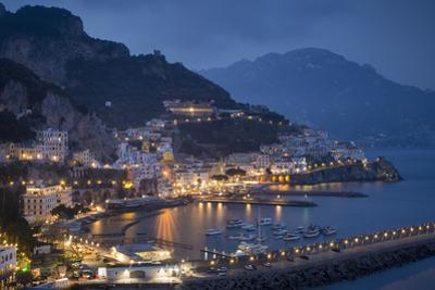 Twilight over Amalfi Along the Amalfi Coast, Campania, Italy by Brian Jannsen