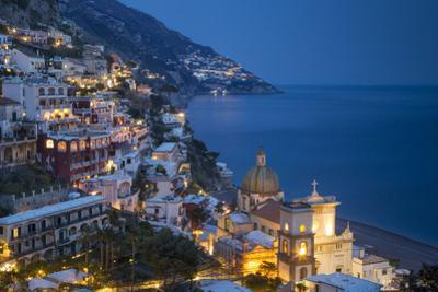 Twilight over Positano Along the Amalfi Coast, Campania, Italy by Brian Jannsen