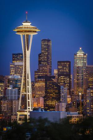 Twilight over the Space Needle and downtown Seattle, Washington, USA by Brian Jannsen