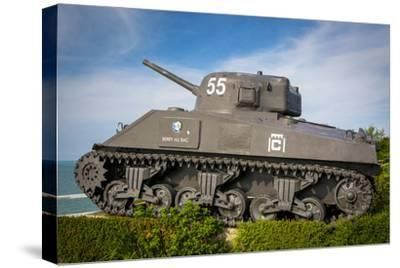 Us Army Sherman Tank on Display at Arromanches-Les-Bains, France