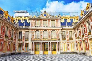 Versailles France - September 21 Main Entrance of Versailles, France on September 21, 2013. Palace by Brian K