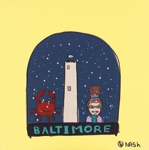 Baltimore Snow Globe by Brian Nash