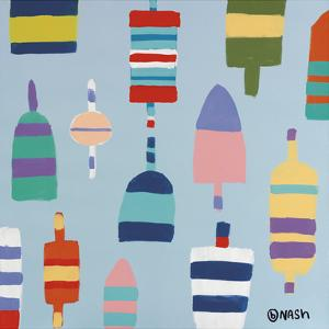 Buoys Blue by Brian Nash