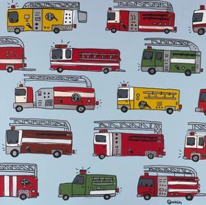 Fire Trucks by Brian Nash