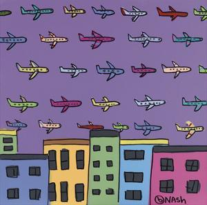 Horizon with Planes by Brian Nash