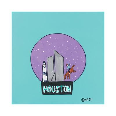 Houston Snow Globe